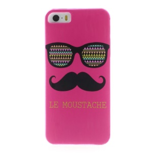 Rose Le Moustache & Glasses Plastic Back Case for iPhone 5s 5