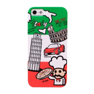 UMKU Italy The Leaning Tower of Pisa Protective Hard Case for iPhone 5s 5