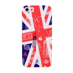 UMKU Union Jack & Britain Attractions Back PC Case for iPhone 5s 5