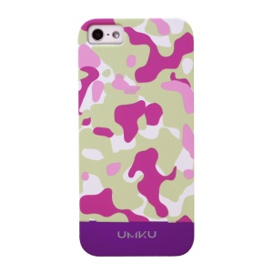 Rose UMKU Camouflage Pattern Slim Protective Hard Case for iPhone 5s 5