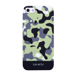 Black UMKU Camouflage Pattern Slim Hard PC Case for iPhone 5s 5