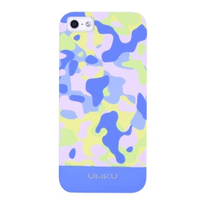 Light Blue UMKU Camouflage Pattern Slim Hard Cover for iPhone 5s 5