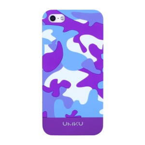 Dark Purple UMKU Camouflage Pattern for iPhone 5s 5 Slim Hard Cover