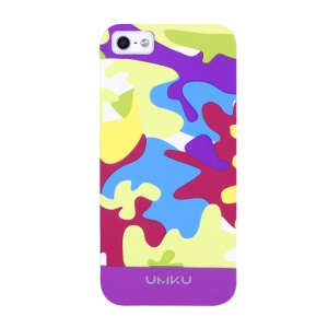 Light Purple UMKU Camouflage Pattern for iPhone 5s 5 Slim Hard Shell