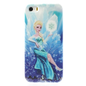 Frozen Cartoon Elsa Glossy Hard Shell Case for iPhone 5s 5