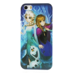 Frozen Movie Anna Elsa Olaf Glossy Hard Case for iPhone 5s 5