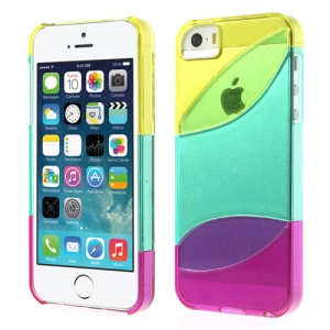 Three Pieces Tri-color Hard Case Shell for iPhone 5s 5 - Yellow / Cyan / Purple