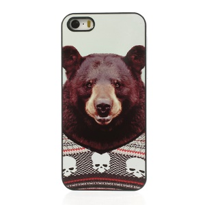 Humanising Animal Portrait Bear Plastic Cover for iPhone 5s 5