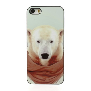 Yago Partal Animal Portrait Polar Bear Plastic Shell for iPhone 5s 5