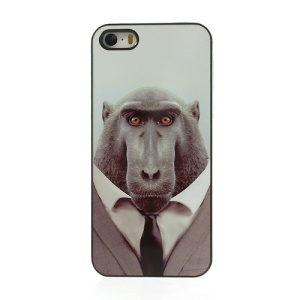 Animal Portrait Macaque Protective Plastic Case for iPhone 5s 5
