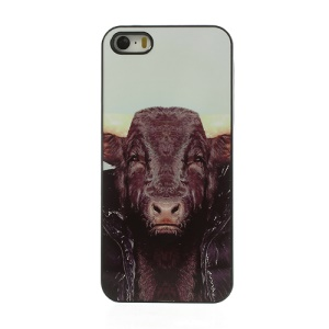 Zoo Animal Portrait Bull Pattern Hard Cover for iPhone 5s 5