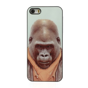 Animal Portrait Gorilla in Human Dresses Plastic Case for iPhone 5s 5