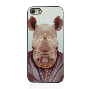 Animal Portrait Rhinoceros Hard Protective Case for iPhone 5s 5