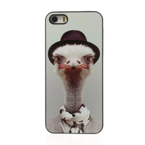 Zoo Animal Portrait Ostrich Plastic Case Shell for iPhone 5s 5