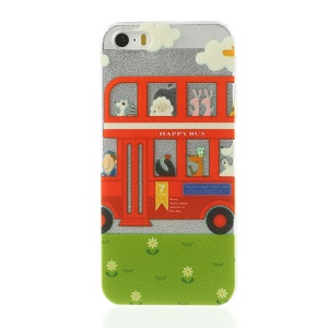 Red Bus Flowers Hard Shell Case for iPhone 5s 5