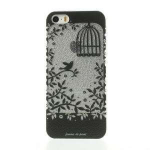 Floral Bird Cage Hard Plastic Case for iPhone 5s 5