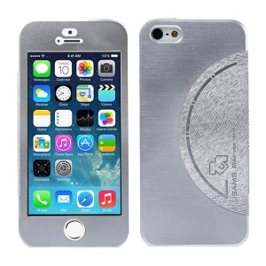 USAMS King Kong Series Flip Metal Cover w/ Screen Faceplate for iPhone 5 5s - Silver
