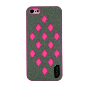 USAMS Impression Series Hollow Diamond Hard Case for iPhone 5s 5 - Rose