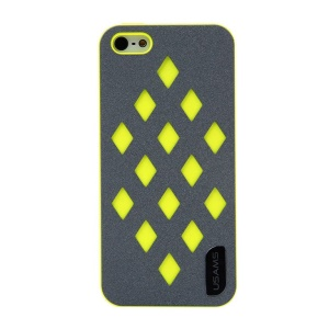 USAMS Impression Series Hollow Diamond Hard Back Case for iPhone 5s 5 - Yellow