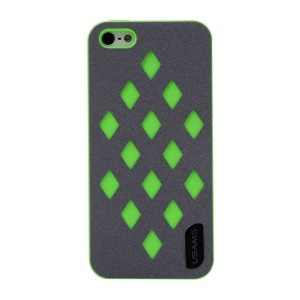 USAMS Impression Series Hollow Diamond Hard Plastic Case for iPhone 5s 5 - Green