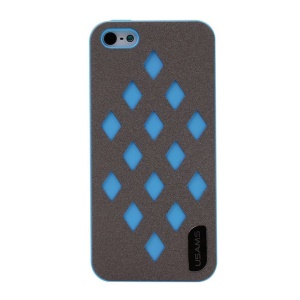USAMS Impression Series Hollow Diamond Hard Case Cover for iPhone 5s 5 - Blue
