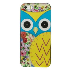 Owl Pattern IMD Plastic Case for iPhone 5s 5 - Yellow