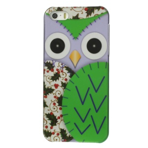 Owl Pattern IMD Plastic Case for iPhone 5s 5 - Green
