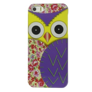Owl Pattern IMD Hard Back Case for iPhone 5s 5 - Purple