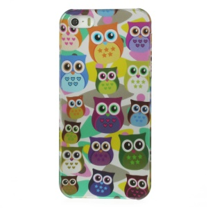 For iPhone 5s 5 Multi Owls Pattern IMD Hard Back Case