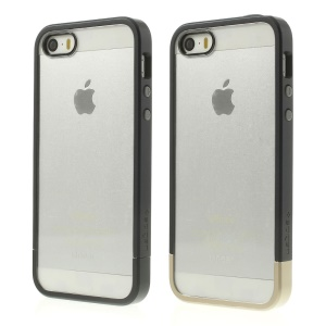 Spigen SGP Linear Case PC Bumper & Crystal Back Panel for iPhone 5s 5 - Black