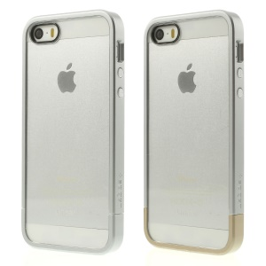 Spigen SGP Linear Case PC Bumper & Crystal Back Panel for iPhone 5s 5 - Silver