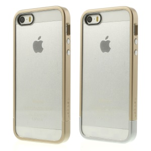 Spigen SGP Linear Cover PC Bumper & Crystal Back Panel for iPhone 5s 5 - Champagne Gold