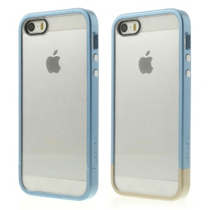 Spigen SGP Linear Cover PC Bumper & Crystal Back Panel for iPhone 5s 5 - Baby Blue