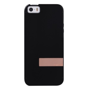 Baseus Sky Series Transparent Clear Hard Case for iPhone 5s 5 - Black / Gold