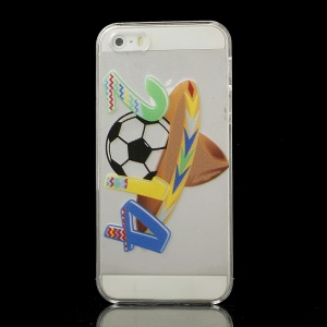 2014 World Cup Football with a Stylish Cap PC Crystal Back Case for iPhone 5s 5