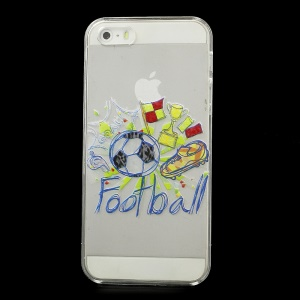Shoe Cup Football & Whistle Plastic Crystal Cover for iPhone 5s 5