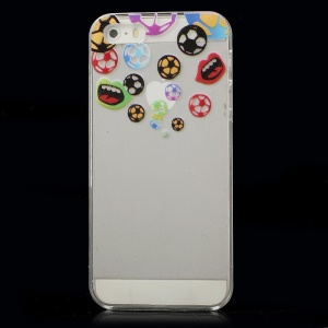 Colorful Footballs Hard Crystal Cover Shell for iPhone 5s 5