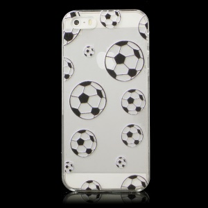 Multiple Footballs Pattern Plastic Crystal Case for iPhone 5s 5