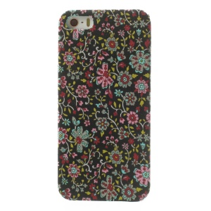 Small Flowers Pattern Cloth Skin PC Back Case for iPhone 5s 5