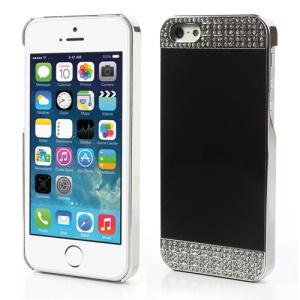 Luxury Diamond Mirror Like Plating Hard Case for iPhone 5s 5 - Silver / Black