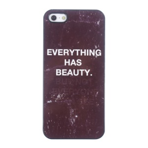 Quote Hard Aluminum Shell Case for iPhone 5s 5 - Everything has beauty