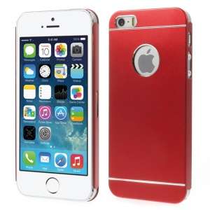 Slim Metal Hard Case Cover for iPhone 5s 5 - Red
