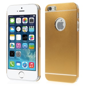Slim Metal Hard Shell Cover for iPhone 5s 5 - Gold