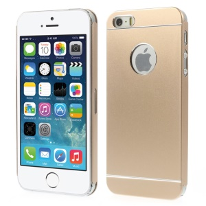 Slim Metal Hard Back Shell for iPhone 5s 5 - Champagne