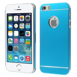 Slim Metal Hard Back Case for iPhone 5s 5 - Light Blue