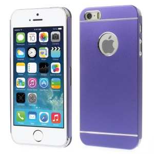 Slim Metal Hard Back Case Shell for iPhone 5s 5 - Purple