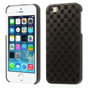 Check Pattern for iPhone 5s 5 Hard PC Case w/ Gray Aluminum Sheet