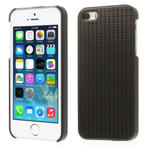 Small Rectangle Pattern for iPhone 5s 5 Hard PC Shell w/ Gray Aluminum Sheet