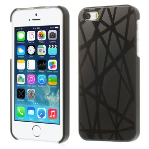 Lines Pattern for iPhone 5s 5 Hard Back Case Cover w/ Gray Aluminum Sheet