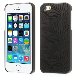 Zebra Stripe Pattern for iPhone 5s 5 Hard Protective Case w/ Gray Aluminum Sheet